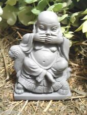 latex only small sitting buddha speak no evil  concrete plaster  mold mould