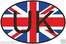 UK UNITED KINGDOM COUNTRY CODE OVAL WITH FLAG STICKER LAPTOP STICKER BUMPER