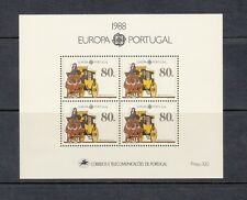HORSES/COACH/TRANSPORT - Portugal  1988 sheet of 4-  (SC 1735A)- MNH-X296