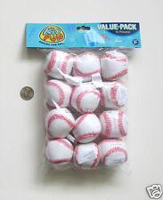 12 Mini Foam Stuffed Baseballs Sports Party Goody Loot Bag Filler Favor Supply