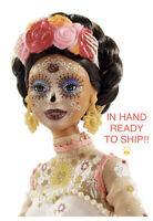 IN HAND 🎉2020 Barbie Dia De Los Muertos (Day of The Dead) DOTD Doll White Dress