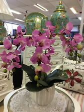 Beautiful Artificial Real Touched Light Purple Orchid Plant With Pot.
