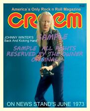 Look New Amazing Johnny Winter Creem 1973 Promo Point Of Sale 8x10 Ko-Dak Vivid