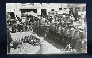 Guadalajara, Mexico - RPPC - Pottery Market