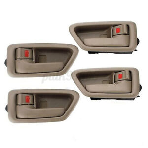4Pcs Inside Door Handle Front Rear Left Right Tan For Toyota Camry 1997-2001 USA
