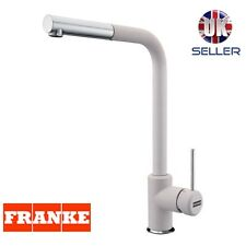 FRANKE SIRIUS SIDE CHROME/WHITE FINISH MIXER KITCHEN TAP PULL OUT SPRAY NEW!