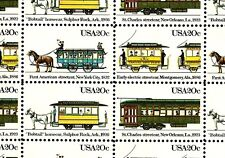 1983 STREETCARS #2059-62 Full Mint -MNH- Sheet of 50 Postage Stamps