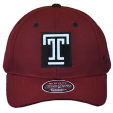 NCAA Zephyr Temple University Owls Maroon Strutured Adult Adjustable Men Hat Cap