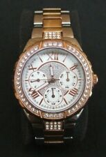 Guess Viva Watch Gold/Silver Colour Metal Bracelet Strap Chronograph W0111L4