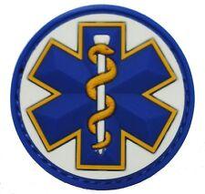 EMT STAR 3D PVC USA EMS MEDIC US ARMY MORALE WHITE MEDICAL HOOK & LOOP PATCH