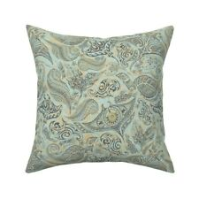 Hawaiian Pastel Teal Mint Throw Pillow Cover w Optional Insert by Spoonflower