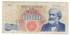 1000 LIRE VERDI I° TIPO 14 07 1962 NON TRATTATA  LOTTO 1473