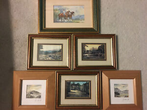 Collection Of Vintage Signed Watercolour Painting& Prints X 6 Framed & Glazed