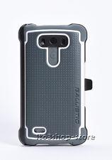 Ballistic SG MAXX Tough Jacket Case w/Belt Clip Holster for LG G3 Gray/White NEW