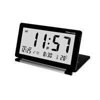 Ultra-thin Clamshell Electronic Clock LCD Alarm Clock Folding Portable 3 Colors