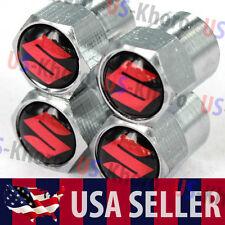 Suzuki Logo Valves Stems Caps Covers Chromed Metal Tire Car Wheel Emblem 2 USA