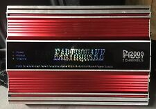 Factory Refurbished Old School Earthquake PH2000W.2 2 Channel amplifier,Rare