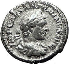 ELAGABALUS 218AD Silver Ancient Roman Coin Mars Possibly  Unpublished i59495