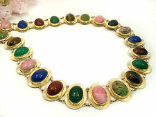 Vintage Jewelry VAN DELL  12 kt Gold Filled Scarab Belt Necklace 30""