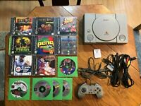 Sony Playstation 1 PS1 Console Bundle SCPH-5501 11 Games Tekken 3 Final Fantasy!