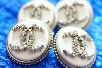 100% Chanel buttons 4  pieces   metal cc logo 20 mm 0,8 inch 💔💔💔