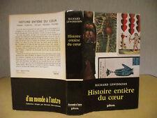 RICHARD LEWINSOHN HISTOIRE ENTIÈRE DU COEUR MÉDECINE PSYCHOLOGIE SOCIOLOGIE