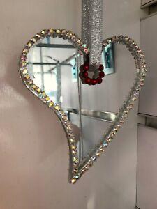 Heart birthstone sun catcher with  Swarovski Crystal elements -Valentines gift