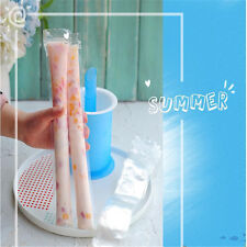 20x DIY Ice Pop Clear Bag Tray Disposable Ice Cream Lolly Self Sealing Mold Bags