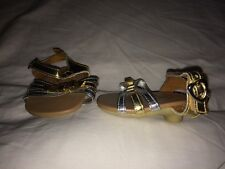 Build a Bear Sliver/Gold Heel Sandals w/ Bow