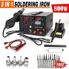 UK YIHUA 3 in1 Safe Soldering Iron Station Hot Air Rework Station DC Power