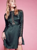 Anthropologie Free People Sun & Stars Green Backless Cocktail Dress 12 New