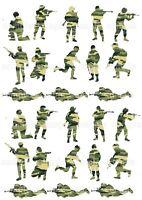 Soldat Bundeswehr Camouflage grün Eßbar Tortenbild Party Deko Muffinaufleger neu