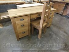 RECLAIMED LARGE COMPUTER DESK HAND MADE RUSTIC BESPOKE SIZES COLOURS