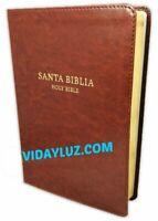 BIBLIA BILINGUE, REINA VALERA 1960, PIEL MARRON : PALABRAS DE CRISTO EN ROJO