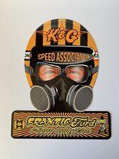 NHRA Frantic Ford Funny Car Team Drag Racing Helmet Metal Sign