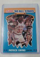 1990-91 Fleer Patrick Ewing All-Star Card #12 New York Knicks
