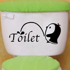 Cute Cartoon Penguin Pattern Bathroom Toilet Sticker Wall Sticker Home Decor
