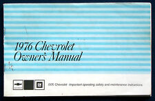 Owner's Manual * Betriebsanleitung 1976 Chevrolet Impala * Caprice (USA)