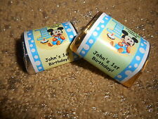 GLOSSY Baby Mickey PERSONALIZED HERSHEY NUGGET WRAPPERS BIRTHDAY PARTY FAVORS