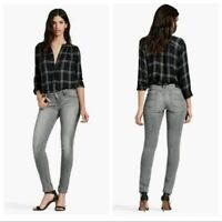 Lucky Brand Women's Size 4/27 Gray Lolita Mid Rise Skinny Jeans Curvy Fit