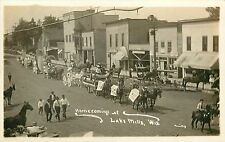 Wisconsin, WI, Lake Mills, Homecoming Parade Early Real Photo Postcard