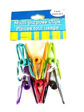 6 Pack Multi-Purpose Colored Kitchen Metal Food Bag Snack Chip Clips Spring Load