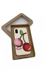 Coach iPhone X/xs Cute Sparkly Glitter Oversized 3d Cherry Case F65093