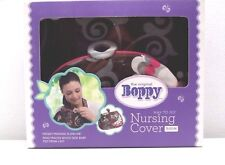 Baby Boppy Nursing Cover Up Olivia Brown Floral Slideline Ring Tracker Pouch NIB