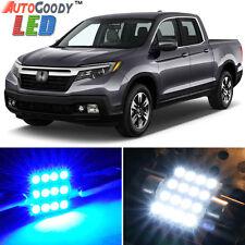 16 x Premium Blue LED Lights Interior Package Kit for Honda Ridgeline + Tool