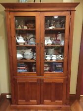 Wooden Display Cabinet Book Shelf Oregon and Glass Tall