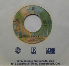 "DEEP PURPLE Woman from Tokyo / Super Trouper CANADA 1973 WB 7672 HARD ROCK 45 7"""