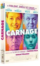 "DVD ""CARNAGE"" ROMAN POLANSKI - JODIE FOSTER - KATE WINSLET neuf sous blister"