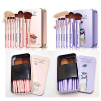 JT_ 7Pcs Makeup Brushes Set Eye Lip Face Foundation Fiber Hair Cosmetic Tool N