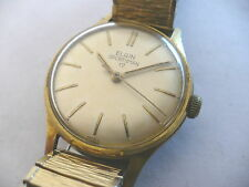 VTG ELGIN 17 JEWEL-MADE IN FRANCE-MENS CLASSIC WRISTWATCH~1960's